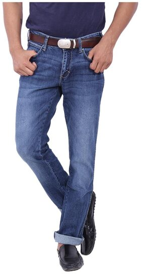 Wrangler Men High Rise Regular Fit ( Skanders ) Jeans - Blue