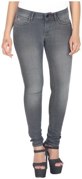 Wrangler Grey Low Rise Slim Fit Jeans(Jane)