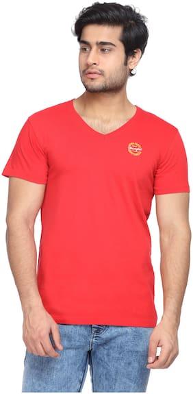 Men V Neck Solid T-Shirt ,Pack Of Pack Of 1