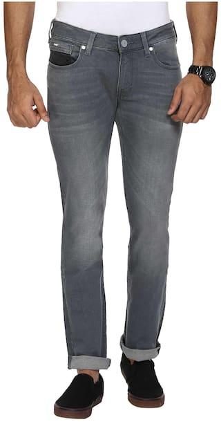 dedc48b4 Buy Wrangler Men Low Rise Slim Fit ( Skanders ) Jeans - Grey Online ...