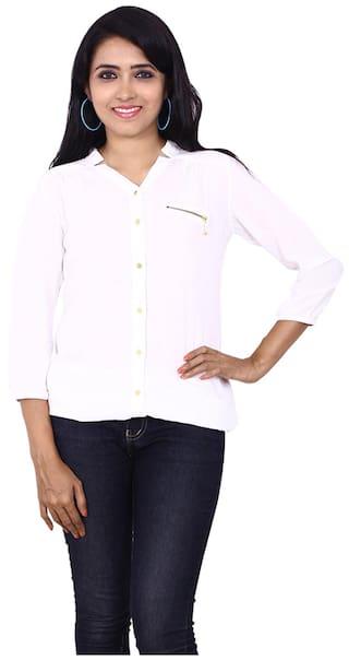 Wrangler White Viscose Shirt