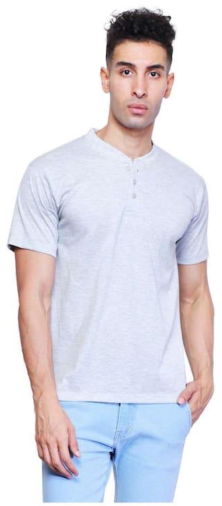 f3c19fbe3739 Buy X-CROSS Men Regular Fit V Neck T-Shirt - White Online at Low ...