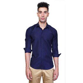 X-CROSS Men Regular Fit Formal Shirt - Blue