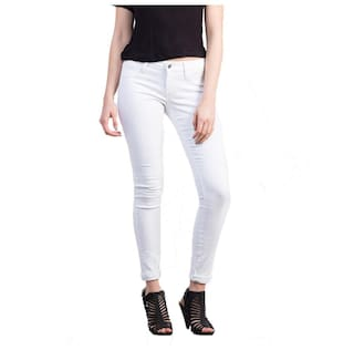 Xee Women Jeans White skinny skinny Xee rwUnYrqp