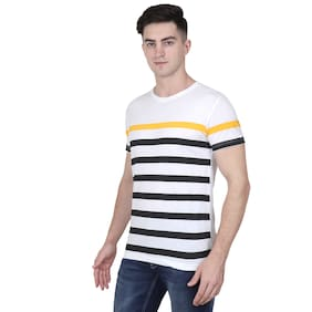 XOHY Men Multi Regular fit Cotton Round neck T-Shirt - Pack Of 1