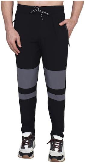 Xohy Men Spandex Regular Fit Track Pants (Black)