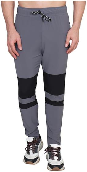 Xohy Men Spandex Regular Fit Track Pants (Grey)