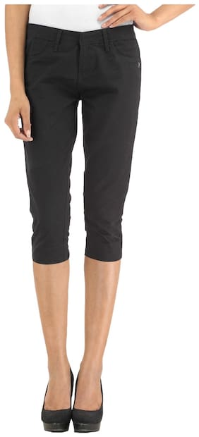 Xpose Women Solid Shorts - Black