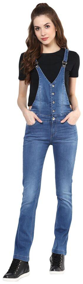 Xpose Blue Cotton Dungarees