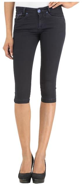 Xpose Women Solid Shorts - Black