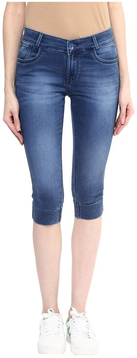 Xpose Blue Denim Capri