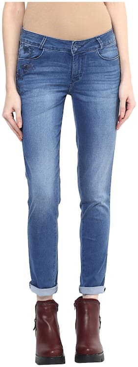 Xpose Women Straight Fit Low Rise Solid Jeans - Multi