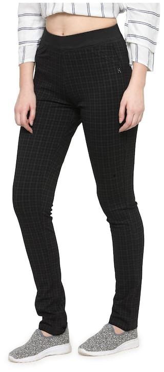 Xpose Brown Check Jegging