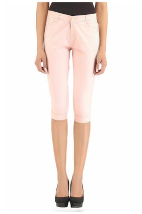 Xpose Women Solid Shorts - Pink