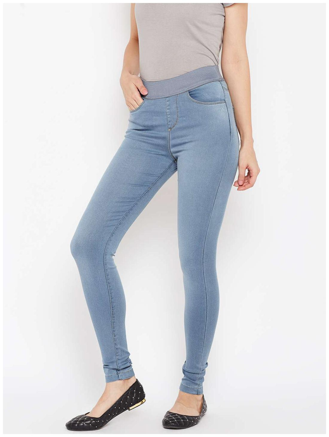 f2d8c13daac1a Buy Xpose Women Skinny Fit High Rise Solid Jegging - Blue Online at Low  Prices in India - Paytmmall.com