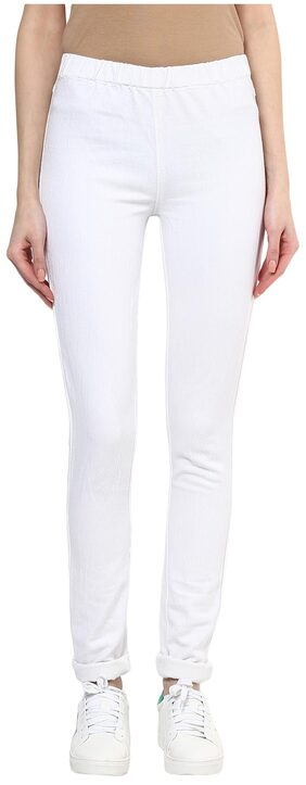 Xpose White Cotton Jegging