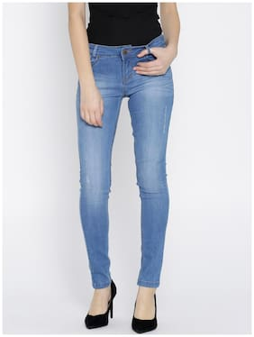 Xpose Women Regular Fit Mid Rise Embellished Jeans - Blue