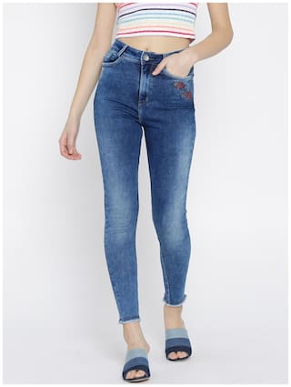 Xpose Women Blue Skinny Fit High-Rise Clean Look Stretchable Jeans
