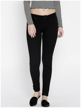Xpose Women Black Slim Fit Mid-Rise Clean Look Stretchable Jeans