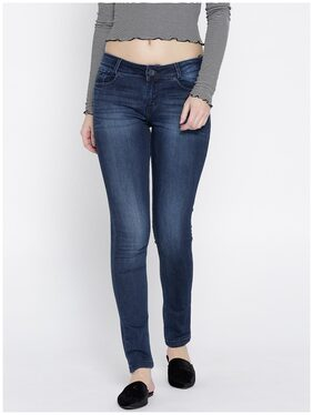 Xpose Women Navy Blue Slim Fit Mid-Rise Clean Look Stretchable Jeans
