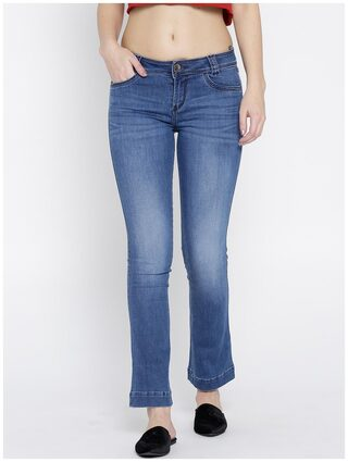 Xpose Women Blue Bootcut Mid-Rise Clean Look Stretchable Jeans