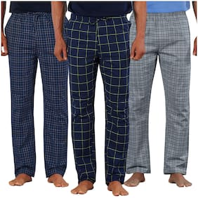 Men Cotton Pyjama ,Pack Of 3