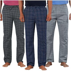 Men Cotton Pyjama ,Pack Of 3