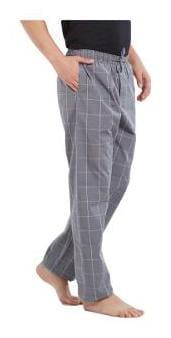 XYXX Men Cotton Checked Pyjama - Grey