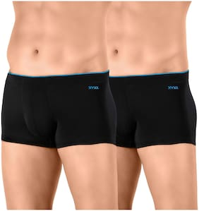 XYXX Solid Trunks - Black ,Pack Of 2