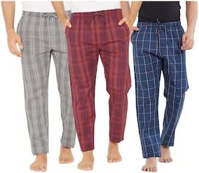 XYXX Men Cotton Checked Pyjama - Multi
