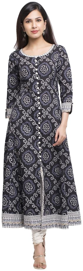 Women Printed Anarkali Fusion Dresses