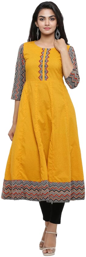 Women Geometric Straight Kurta