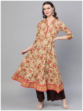 Women Floral Anarkali Fusion Dresses