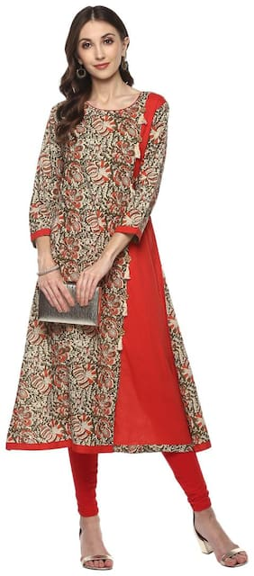 Yash Gallery Traditional Kalamkari Print Women s A-Line Kurta