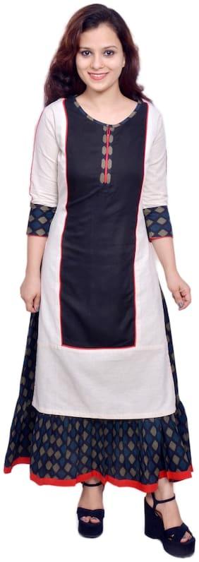 Yash Gallery Women Cotton Printed A line Kurta - Multi