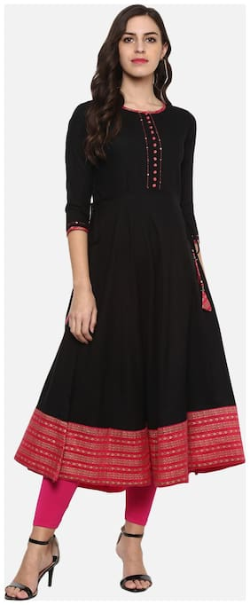 Women Solid Anarkali Kurta