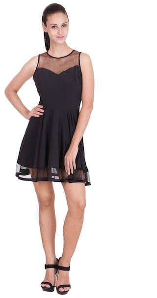 Yasita Pary Wear Black Net Dress For Women