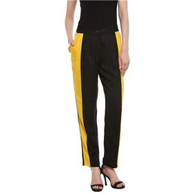 The Vanca Yellow And Black Cut And Sew Trouser