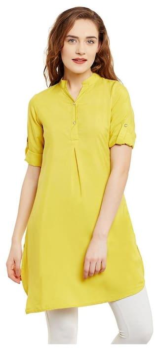 Yellow Color Plain Tunic