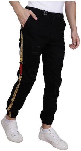Jaunier Men Black Jogger Jeans