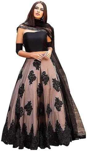 Net;Satin ,Pack Of Lehenga Choli & Dupatta