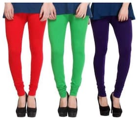 YO INDIA Cotton & Lycra Leggings - Multi