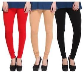 YO INDIA Cotton & Lycra Leggings - Multi
