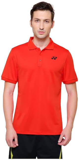debb8f88f83 Buy YONEX Men TSPMTSP 783 Cherry Red Polo Collar T-shirt Online at ...