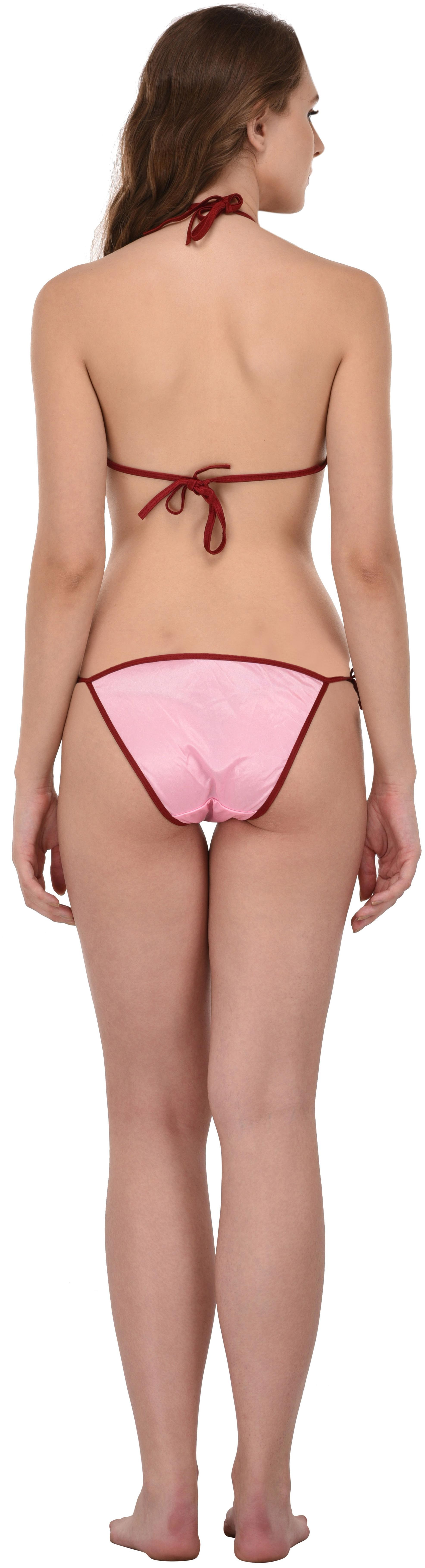 00fab26ef12 Buy You Forever Solid Minimizer Bra Lingerie Set - Pink Online at Low  Prices in India - Paytmmall.com