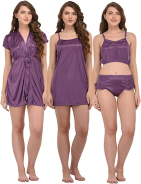 Solid Top and Shorts Set ,Pack Of 3
