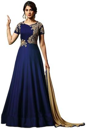YOYO Fashion Bollywood Designer Silk Anarkali Salwar Suit With Dupatta