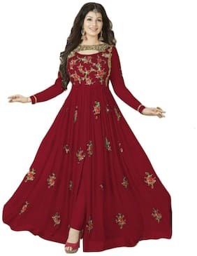 YOYO Fashion Stylish Designer Embroidered Gerorgette Bollywood Anarkali Salwar suit