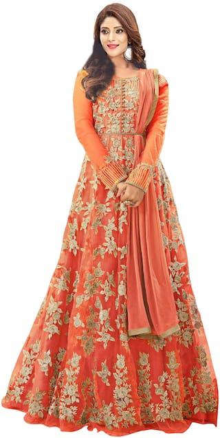 YOYO Fashion Net Embroidered Anarkali Salwar Suit
