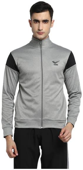 Yuuki Men Grey Solid Sports jacket
